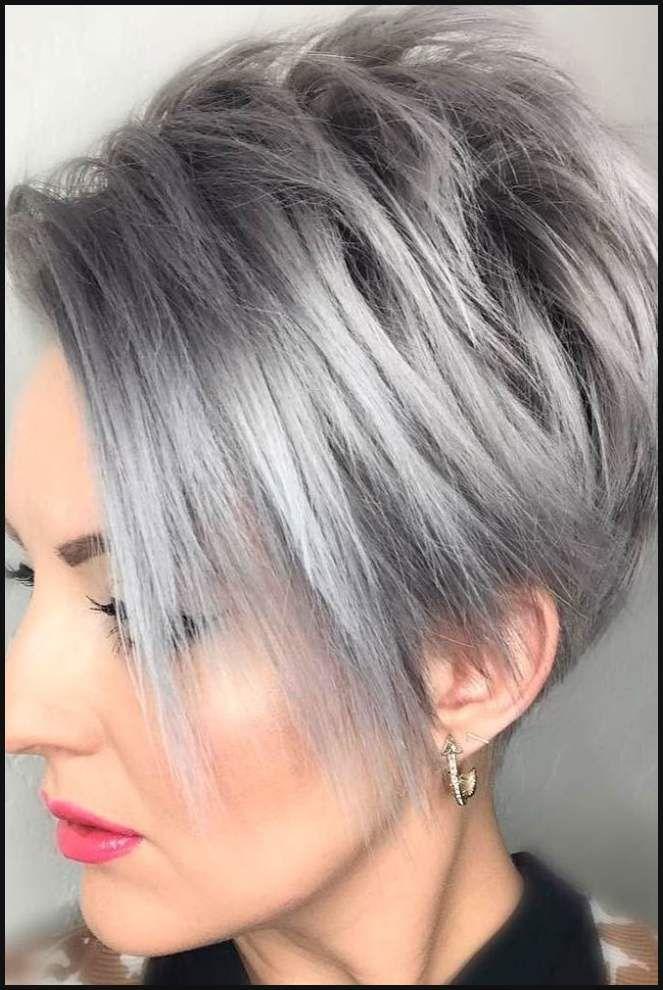 kurzhaarfrisuren 30 damen grau haarfarbe #kurzhaarfrisuren ...