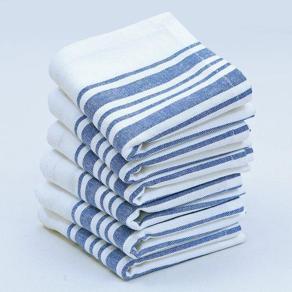 """Gail Stripes Cotton 17"""" Napkin"""
