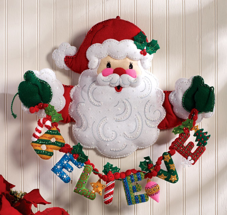Adorno De Fieltro Para Puerta 3 Navidad Pinterest Adornos  ~ Manualidades De Fieltro De Navidad