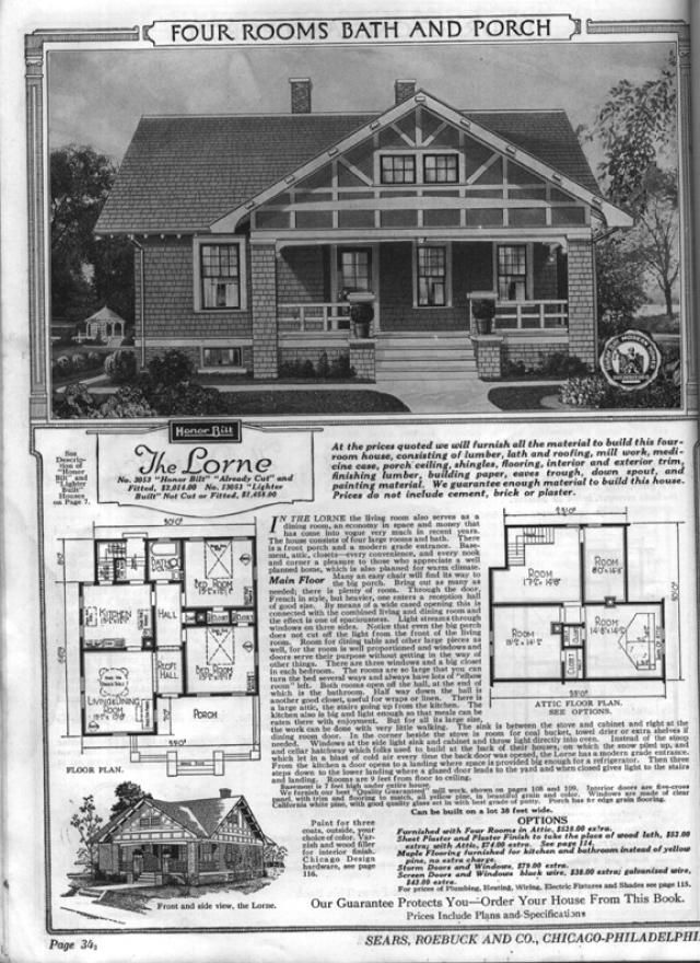 Sears Bungalows For Sale 1921 Catalog House Plans Sears Roebuck