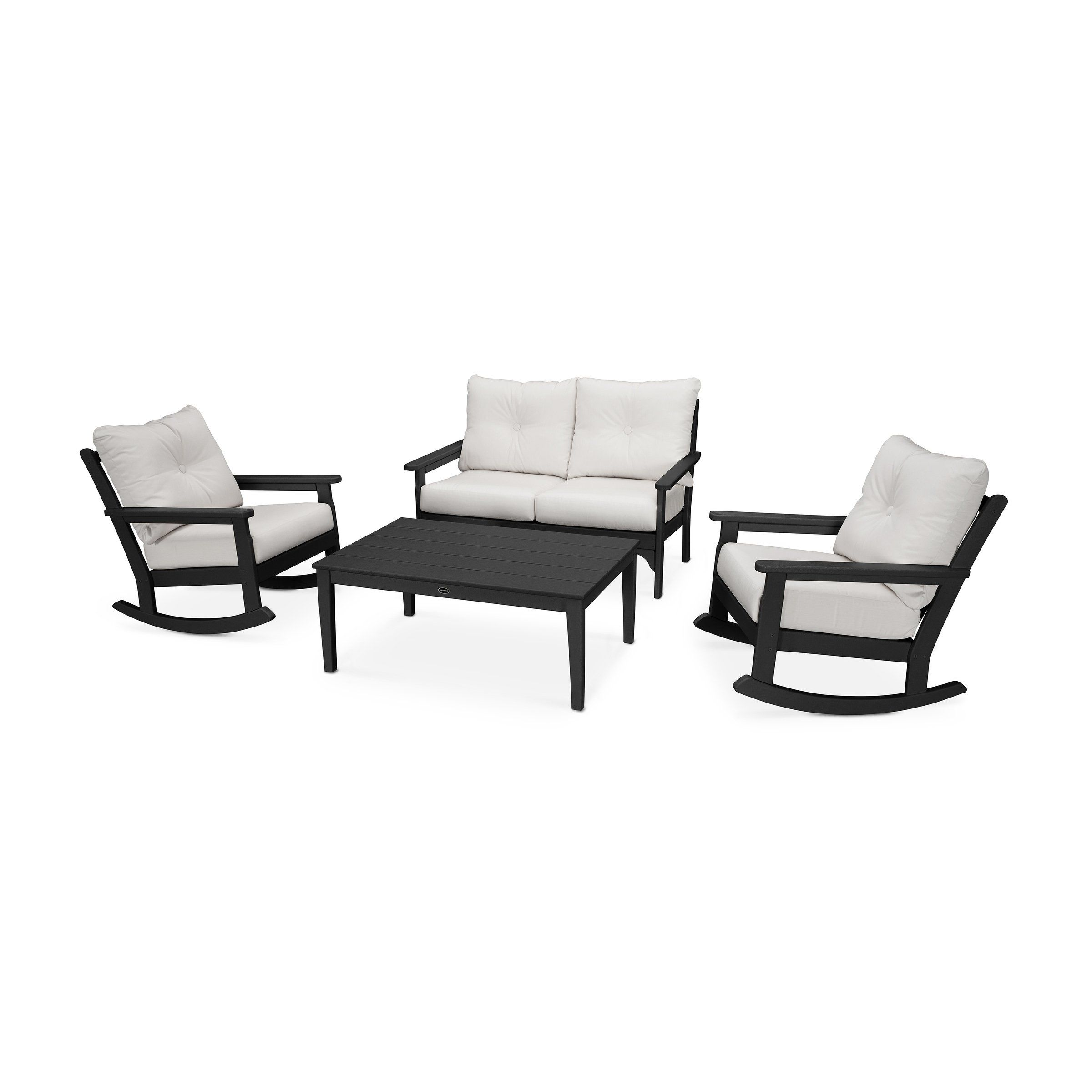 Vineyard 4 Piece Deep Seating Rocking Chair Set Assembly