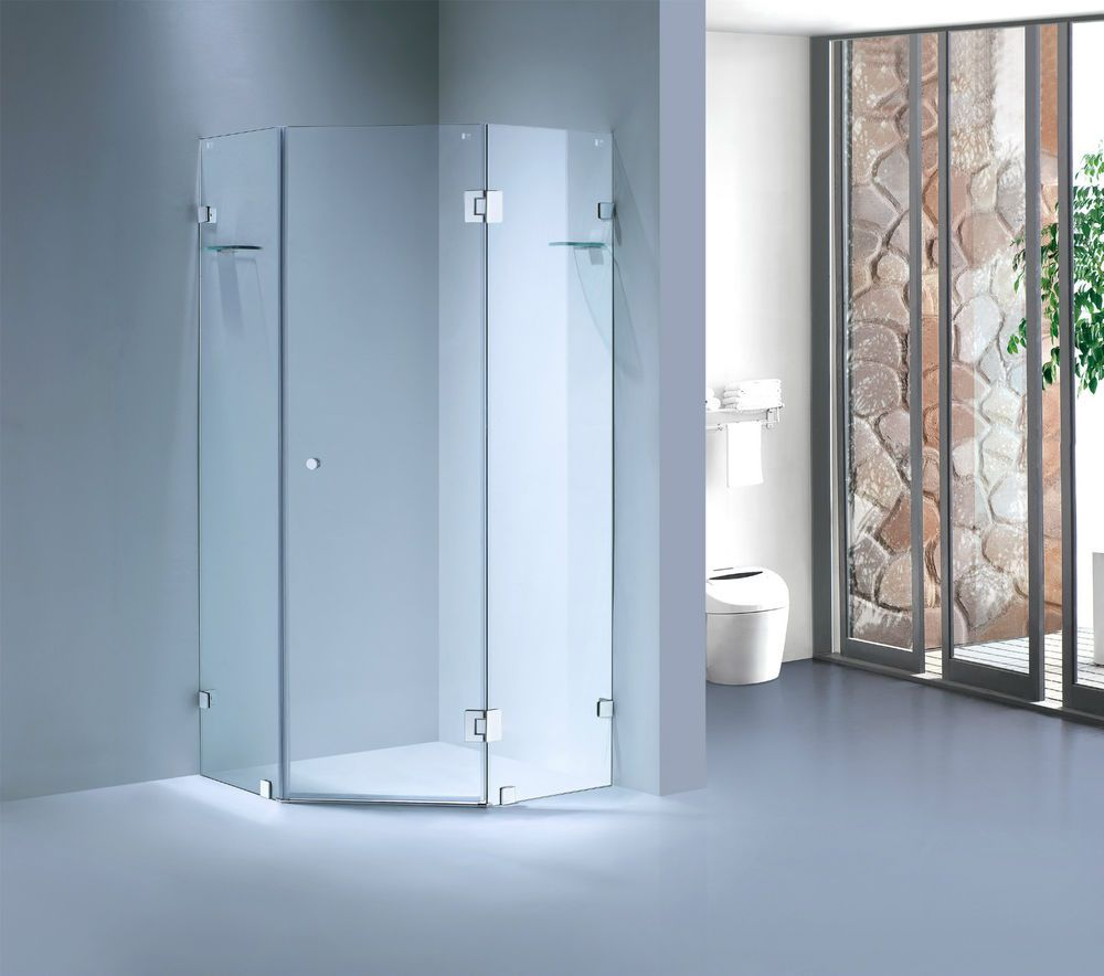 DIAMOND FRAMELESS SHOWER SCREEN / CUBICAL - 10 MM TOUGHENED GLASS in ...