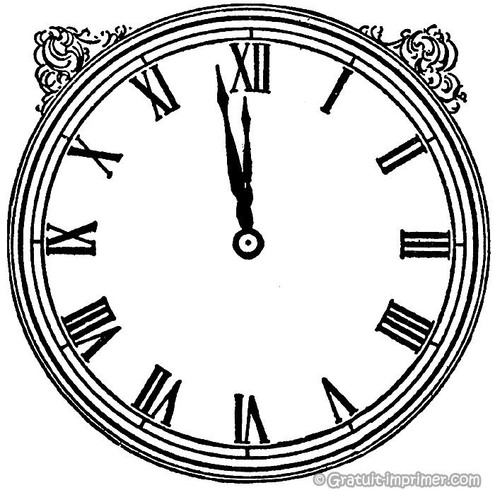 coloriage horloge pour enfant gratuit a imprimer cinderella pinterest horloge pour. Black Bedroom Furniture Sets. Home Design Ideas
