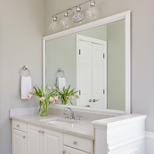 Chelsea Classic White Frame In 2020 Bathroom Mirror Frame Bathroom Mirrors Diy Mirror Frame Diy