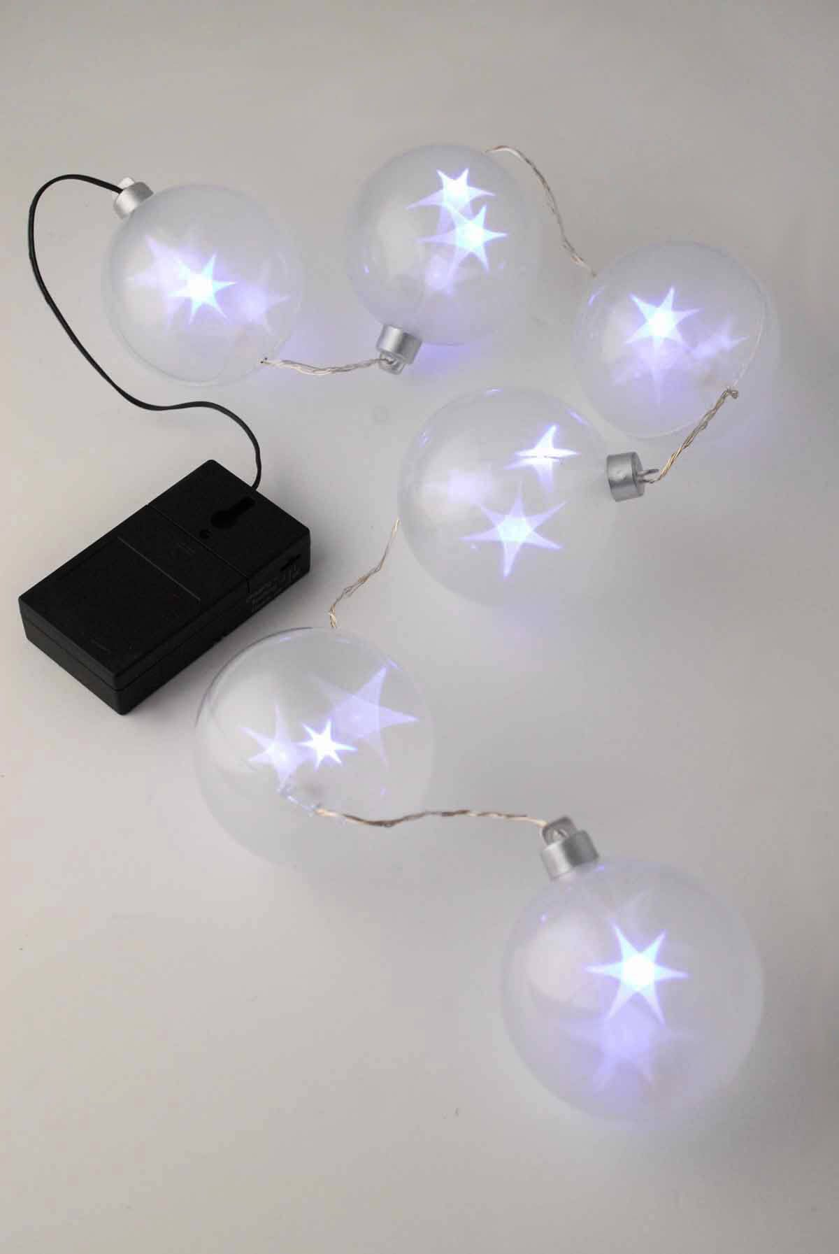 Led holographic star lights | Battery operated string lights ...