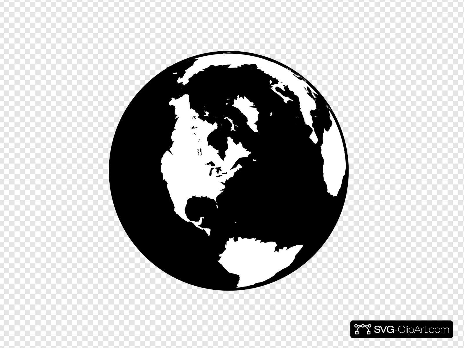 Globe Clipart Black And White Globe Clipart Clipart Black And White Globe Art