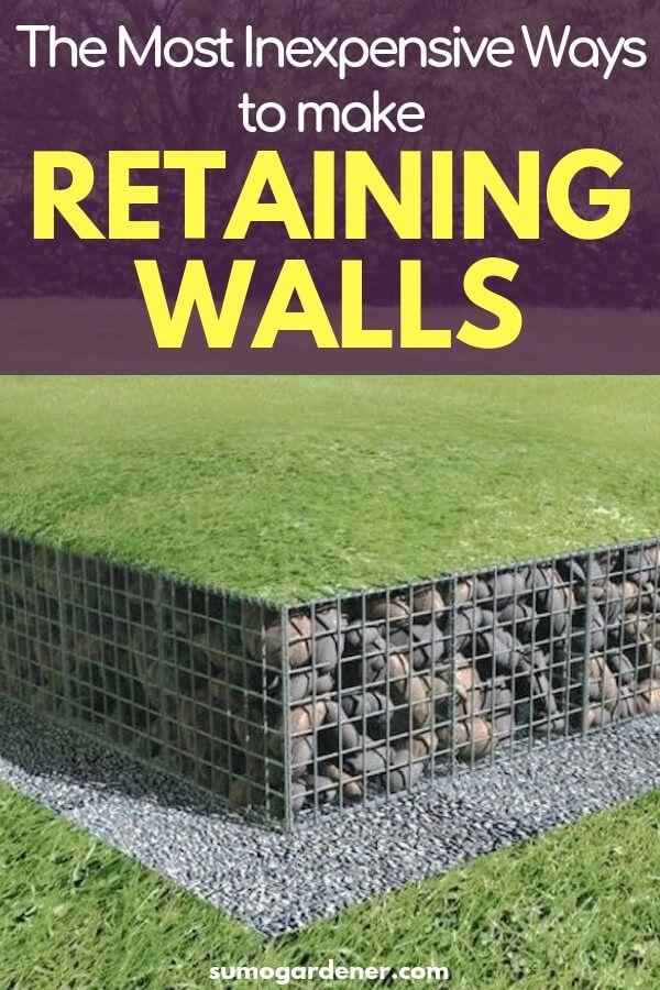 The Most Inexpensive Ways To Make Retaining Walls Backyard