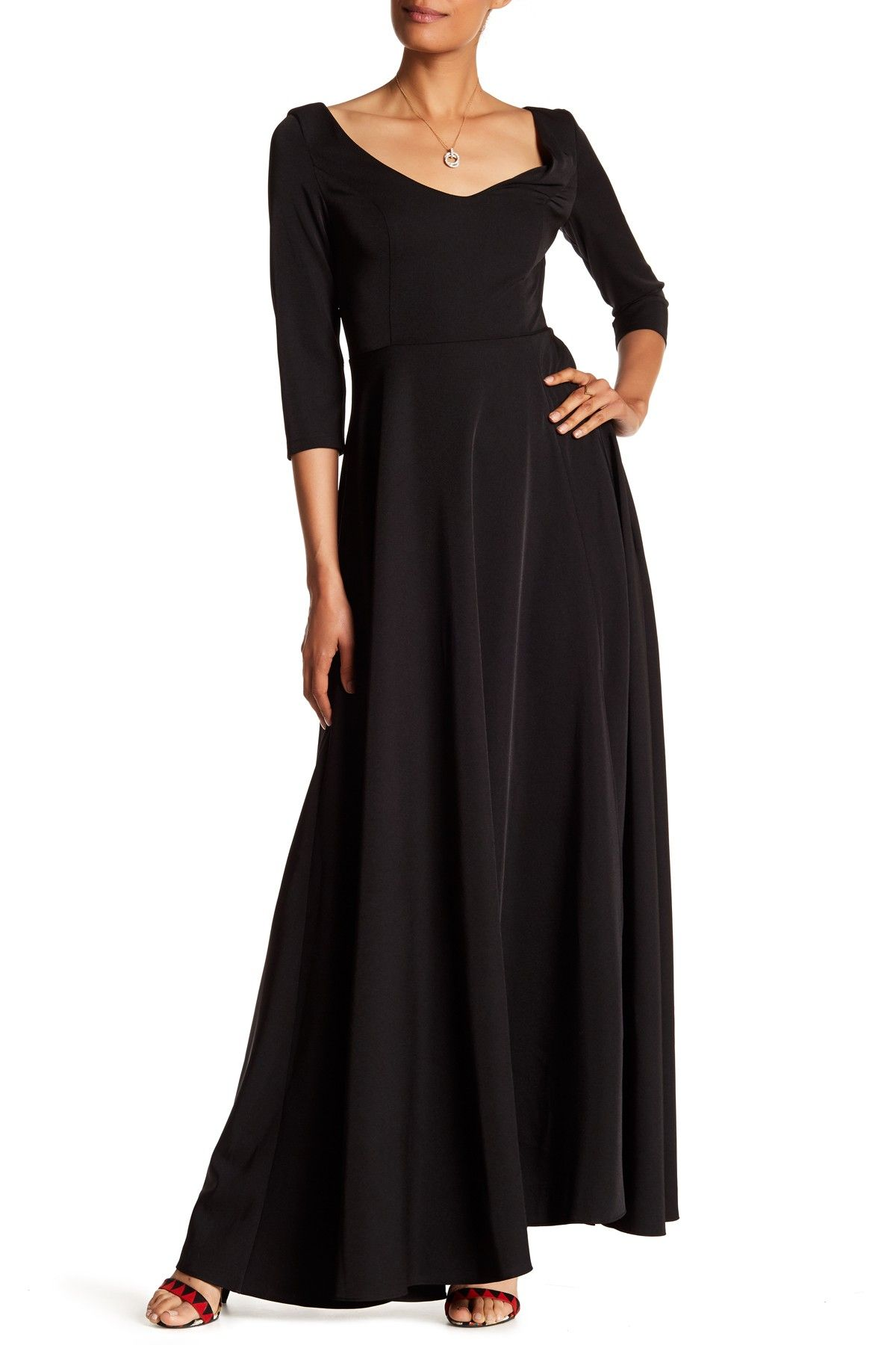 V Neck 3 4 Length Sleeve Maxi Dress By Annete On Hautelook Maxi Dress With Sleeves Maxi Dress Dresses [ 1800 x 1200 Pixel ]