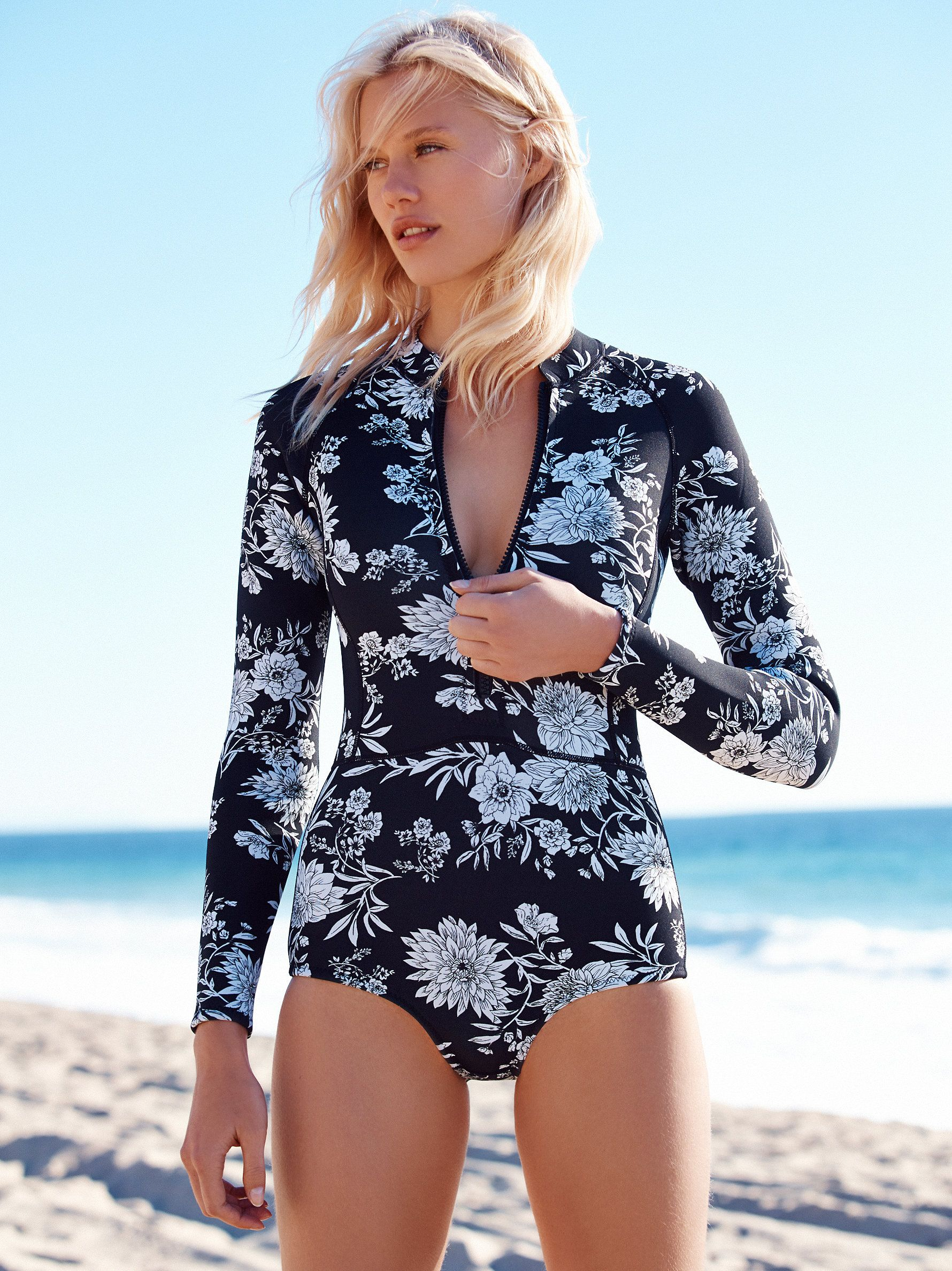 43e78b3e0f Halua Floral Long Sleeve | Beach Bunny | Swimwear, Bikini photos ...