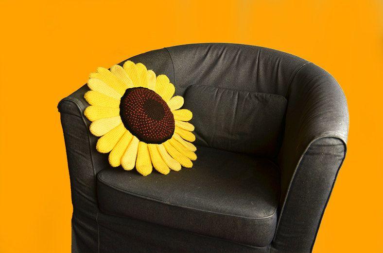 Sunflower Pillow Crochet Pattern Flower Pillow Crochet Pattern