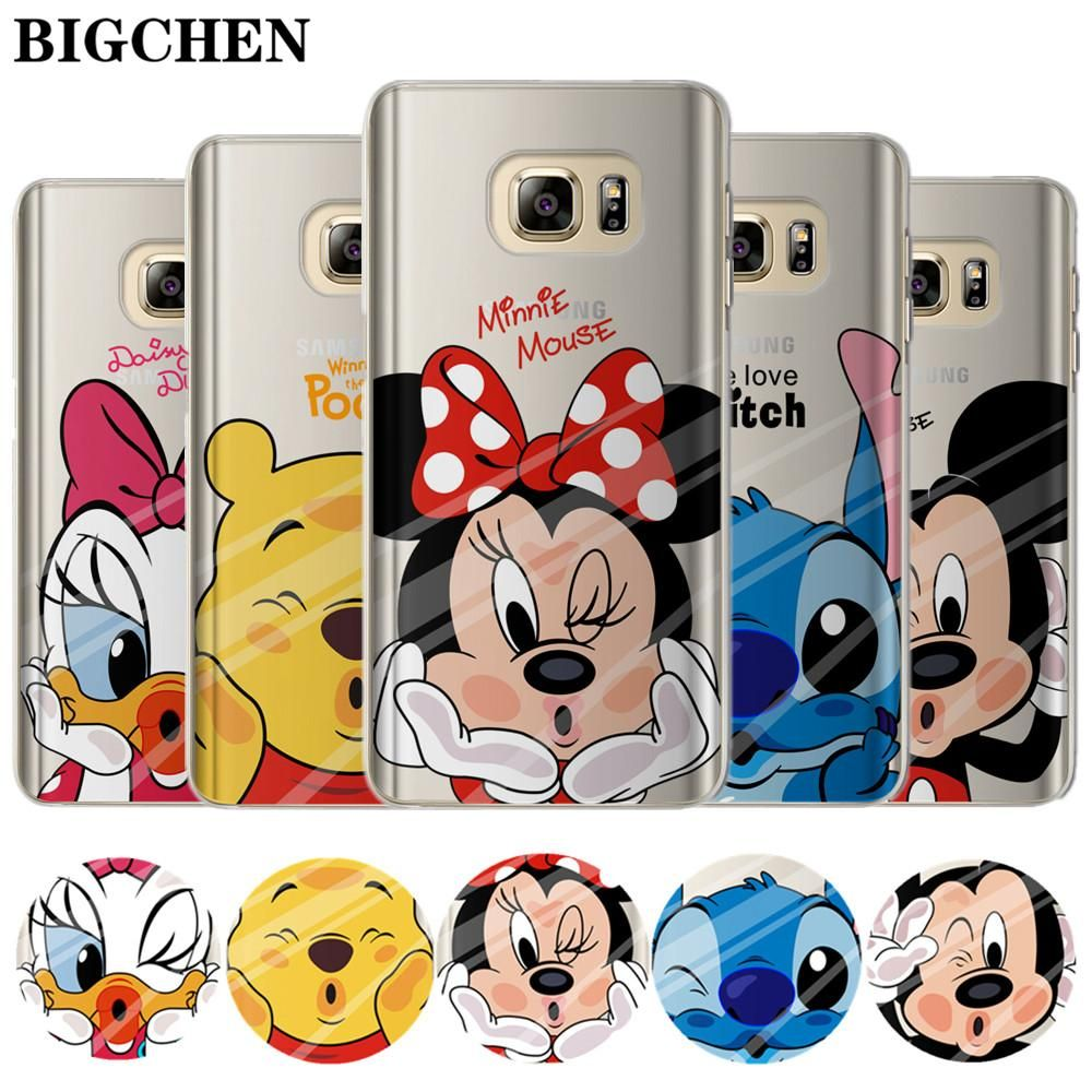 Cute Cartoon Stich Coque Shell Soft Silicone Tpu Phone Case For Samsung Galaxy S6 S7 Edge S8 S9 Plus Note 9 Note 8 Cellphones & Telecommunications Phone Bags & Cases