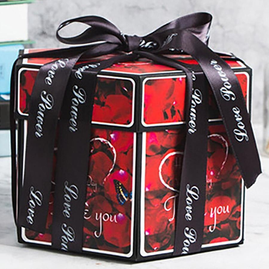 Amazing Box That Creates Mystery Around Your Gift And Invokes A Priceless Look On Your Lover S F In 2020 Diy Photo Album Gift Photo Album Gift Gift Box Birthday