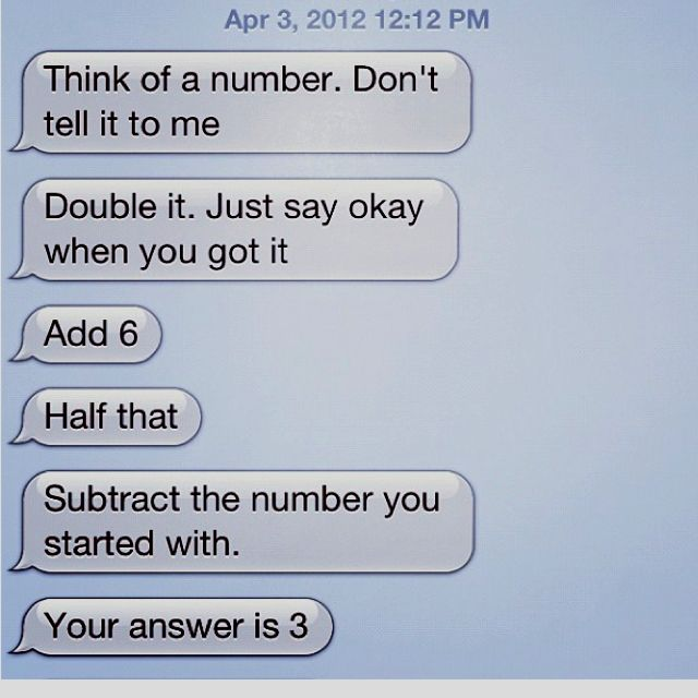 Pin By Olivia On Funny Pictures Funny Mind Tricks Funny Texts Jokes Fun Quotes Funny