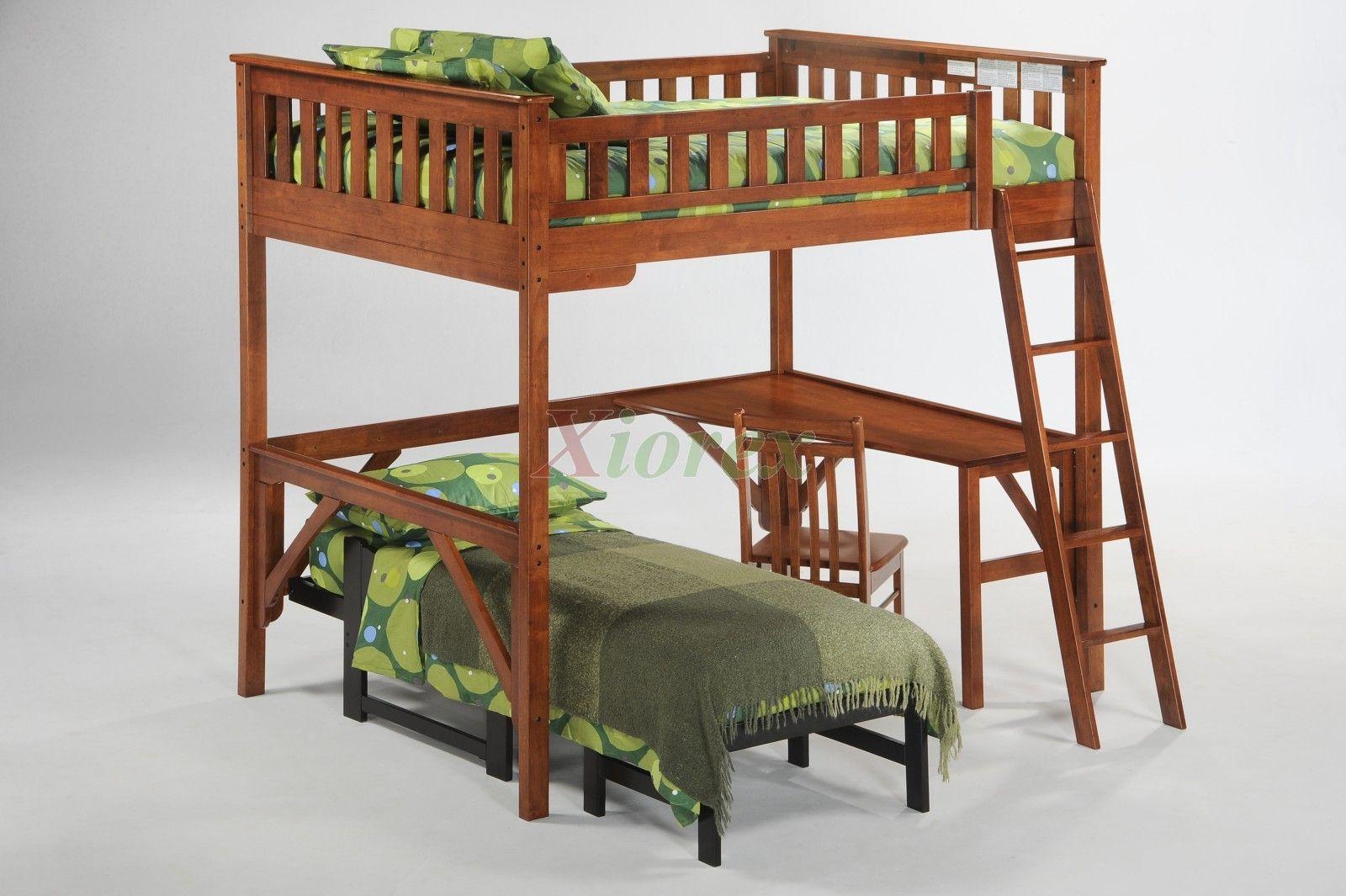 full loft bed bunk ginger loft bed w curvy desk student chair  u0026 futon ginger loft full loft bed bunk ginger loft bed w curvy desk student chair      rh   pinterest