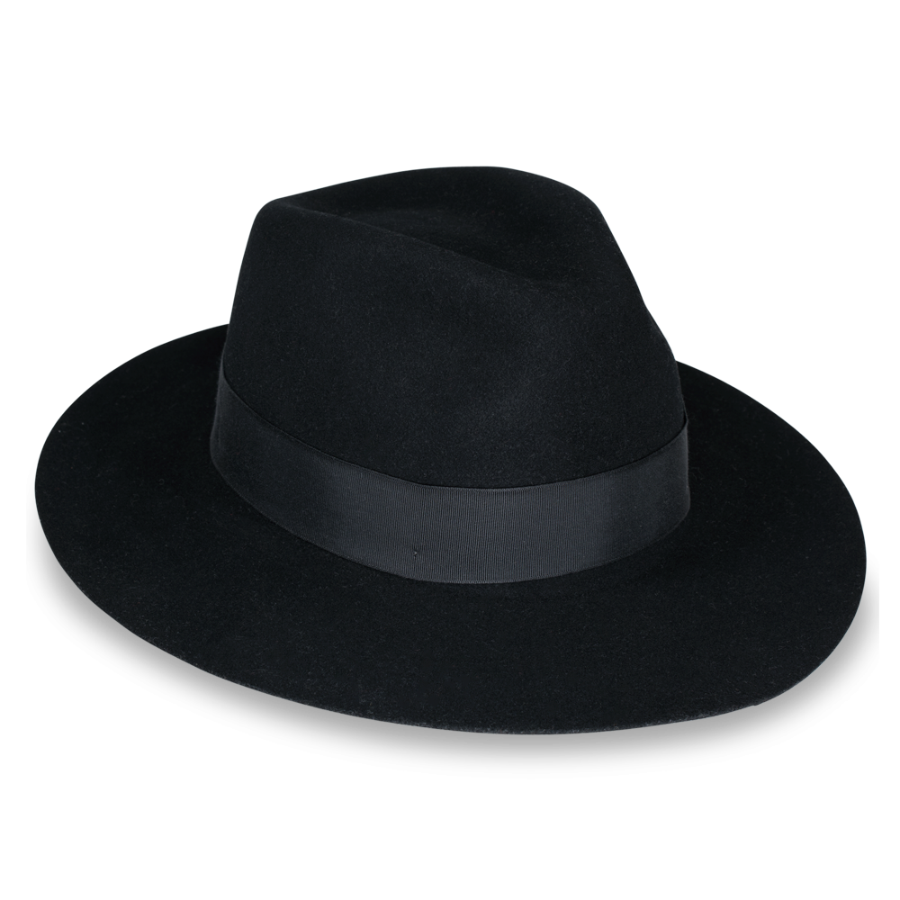 Cowboy Deluxe Fancy Dress Hat Black Durable Hat with Band New W