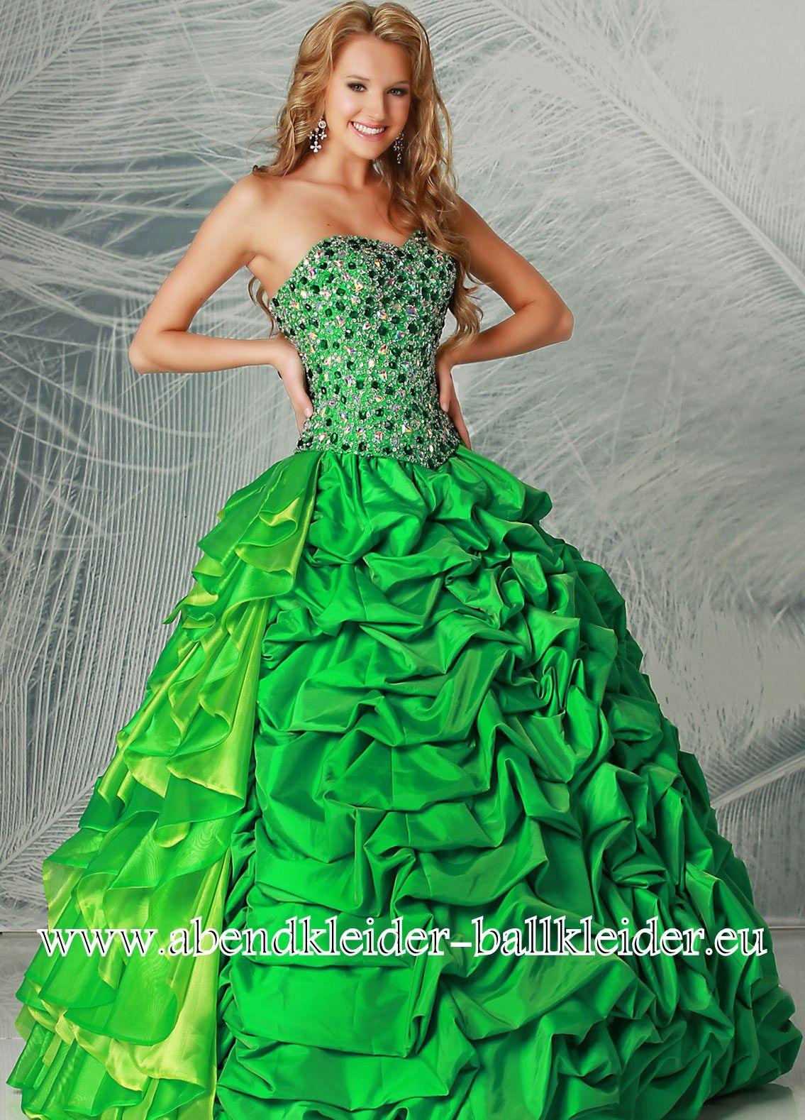 Grünes Abendkleid Ballkleid Online  Ballkleid, Abendkleid grün