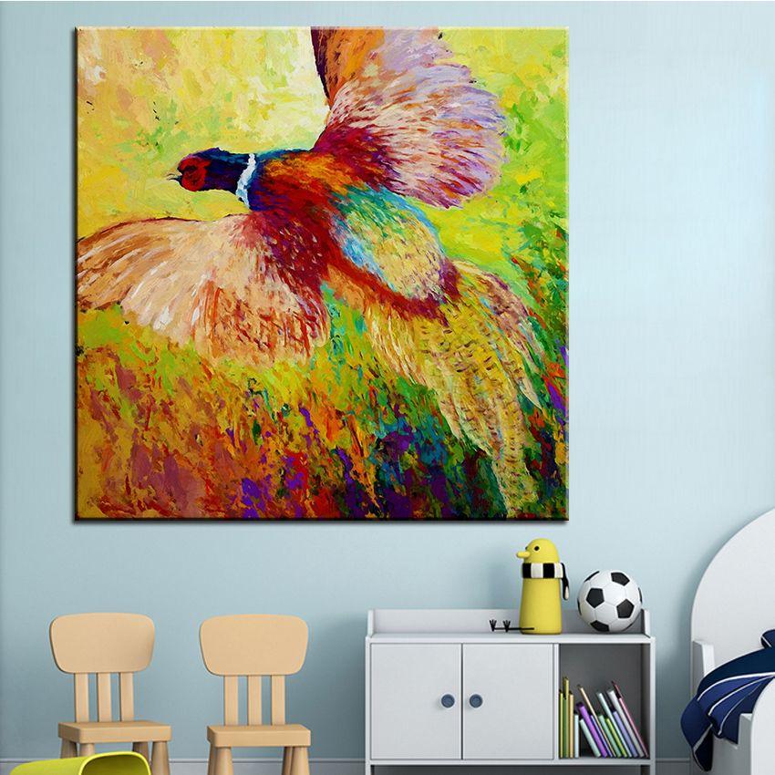 Cheap Pintura Al Óleo de Impresión de gran tamaño enrojecida faisán ...