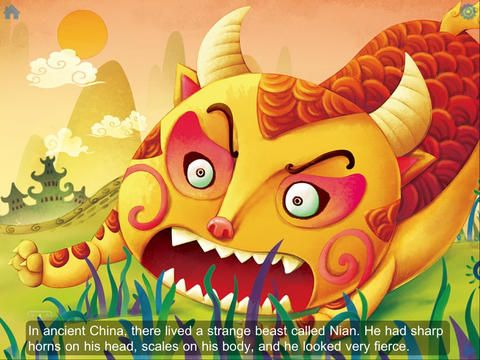 Ibook The Beast Nian Story About The Start Of Cny Learn Chinese Kids Story Books Chinese Book