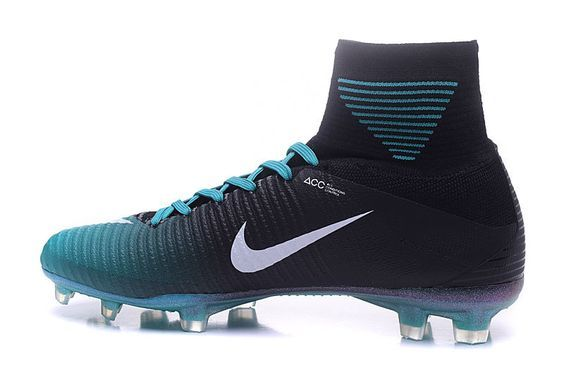 hot sale online 3f8fd 3c97e Luxury Nike Mercurial Superfly V ACC FG Football Boots Black Blue White