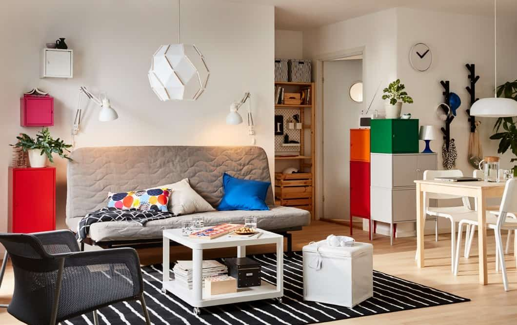 ikea gray beige nyhamn sofa bed for modern simple living
