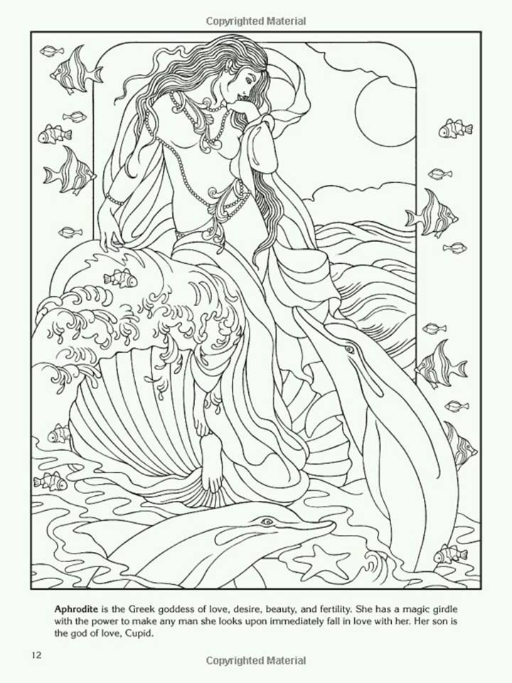 Aphrodite Coloring Page Pagan Goddess Pinterest Coloring Pages