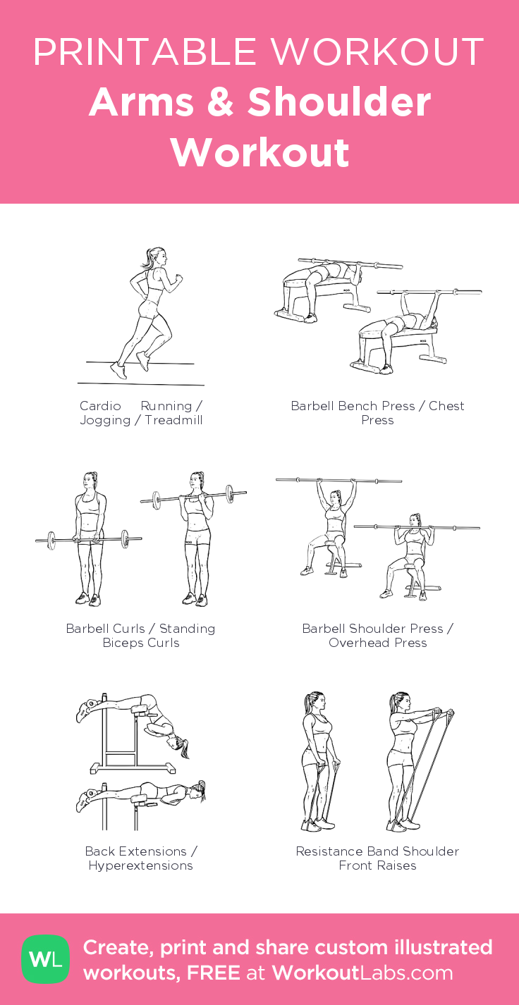 Arms & Shoulder Workout– my custom exercise plan created at ...