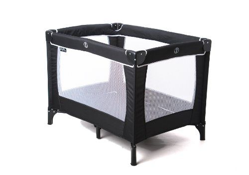 Baby Travel Cot with Mattress Carry Bag Folding Crib Bed Playpen Sleeptight Grey