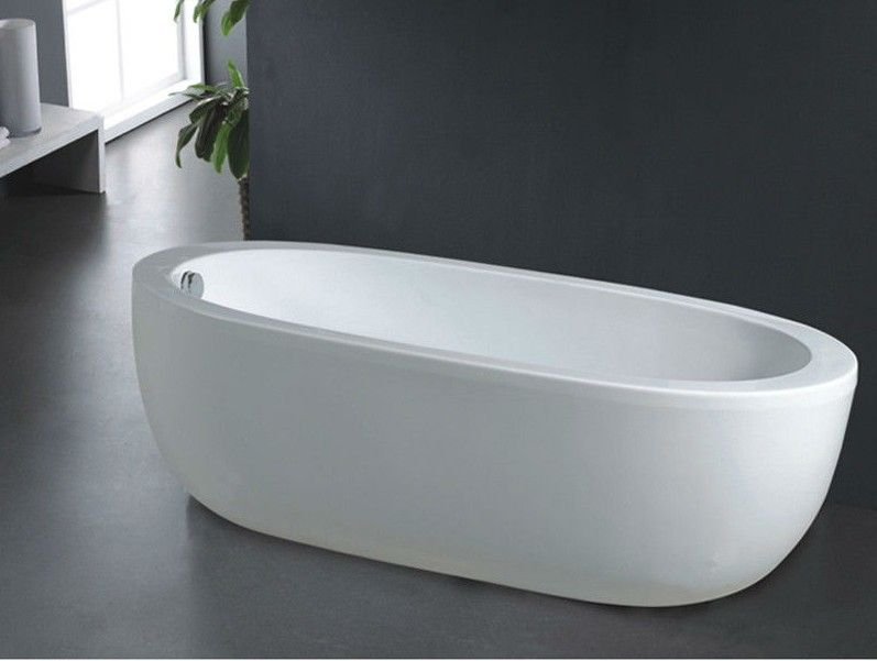 B528 cheap freestanding bathtub deep soaking bathtub for Bathtub material comparison