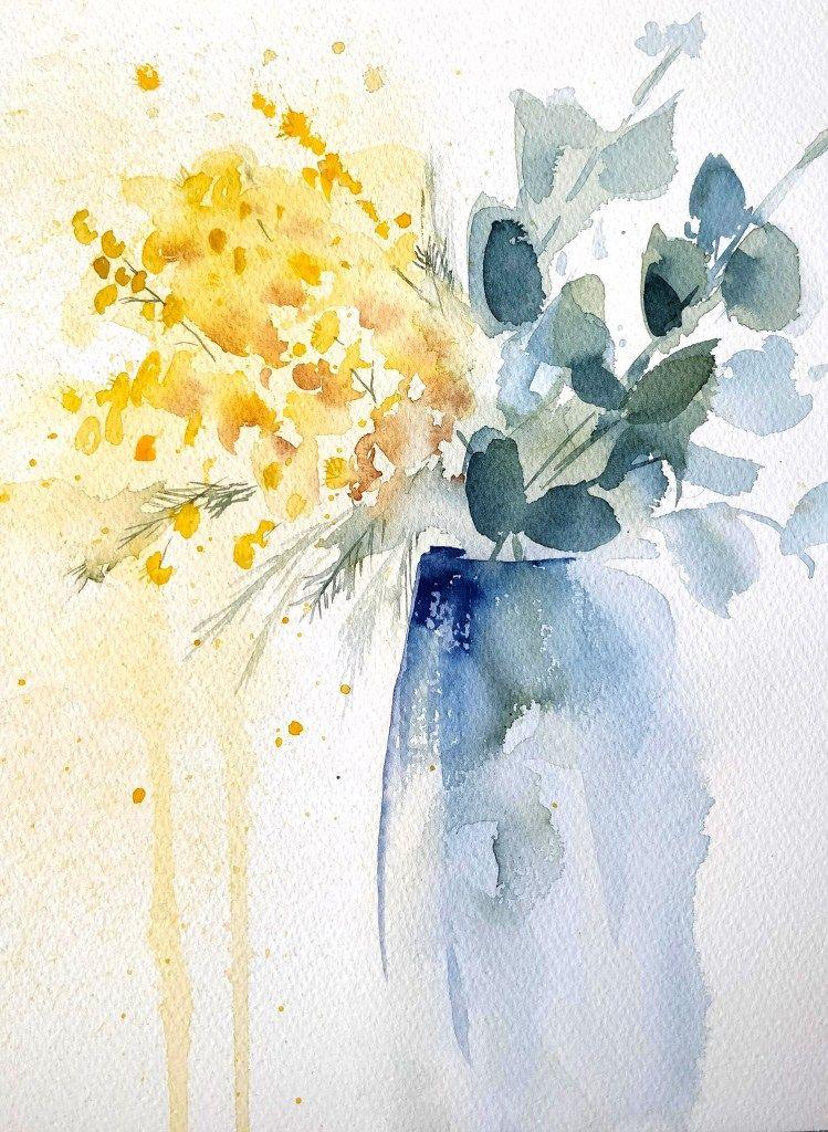 Mimosa A L Aquarelle En Video Aquarelle Coquelicots Peinture