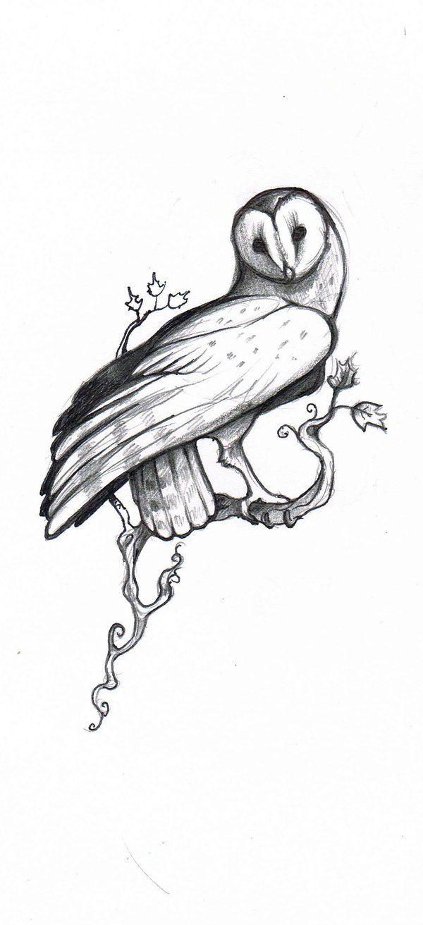 Owl Tattoo Design  by =Aigolios