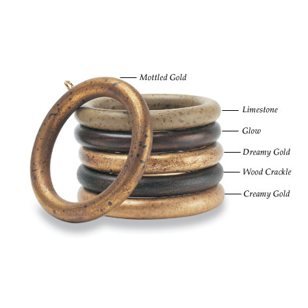 Drapery Rings 2 Sets For 1 3 8 Inch Pole Limestone Or Mottled