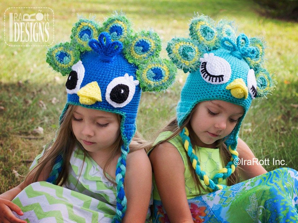 e59f5e28313 Pavo the Peacock Hat PDF Crochet Pattern by IraRott Inc.