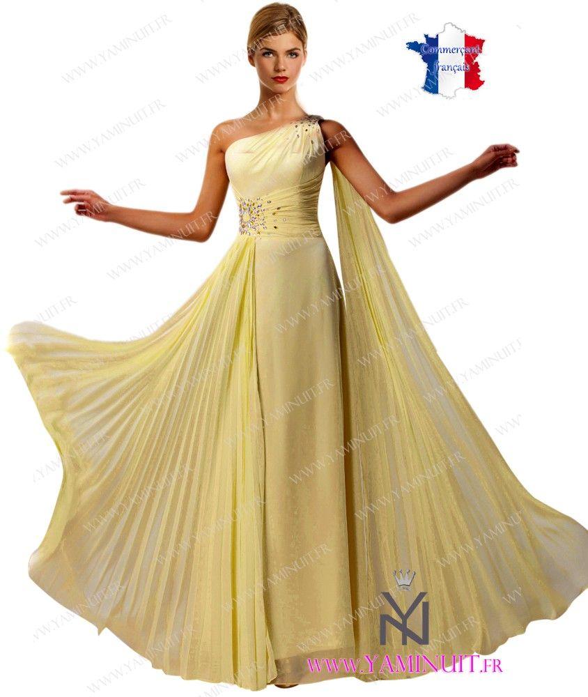 76e968eae7b Robe de soiree jaune poussin – Robes de soirée élégantes populaires ...