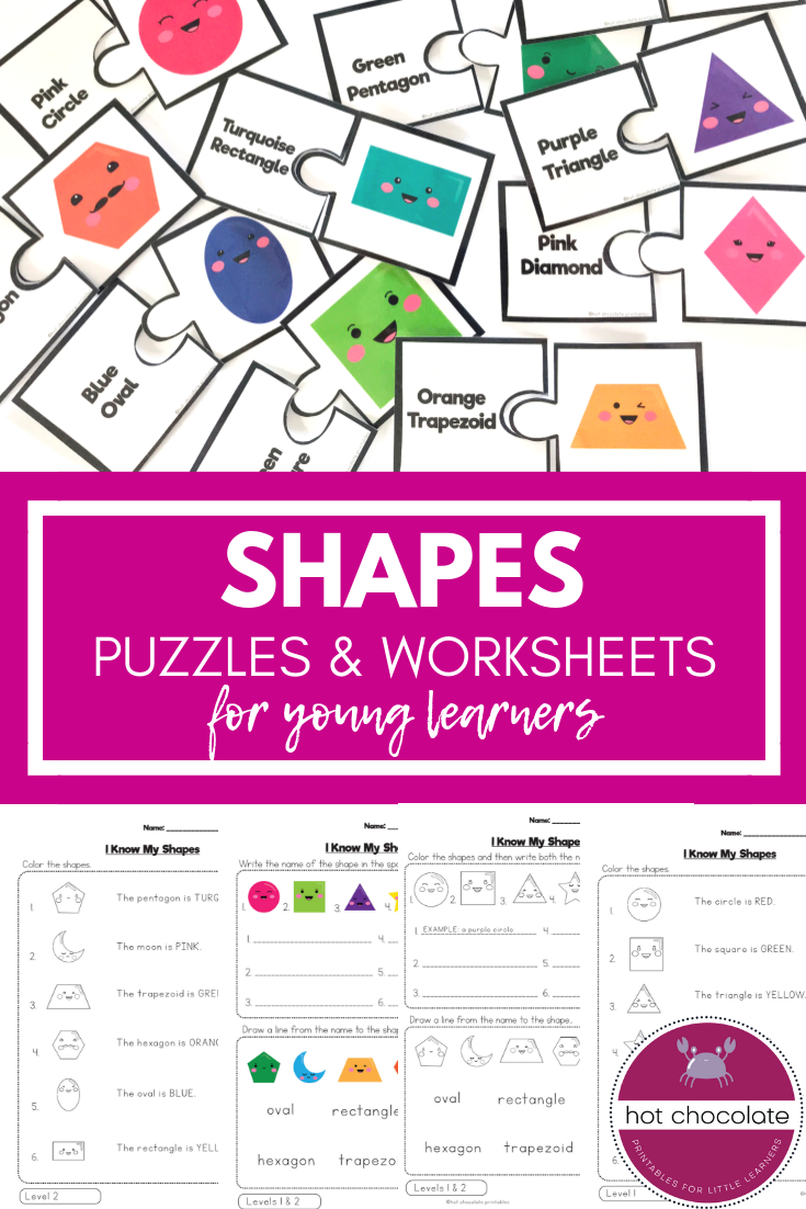 Shape Matching Puzzle and Worksheets i 2018 | TpT Misc. Lessons ...