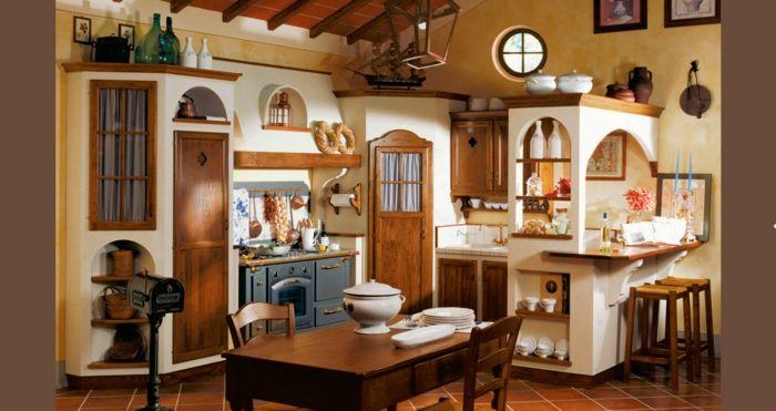 1001 ideas de cocinas rusticas c lidas y con encanto - Cocina rustica pequena ...