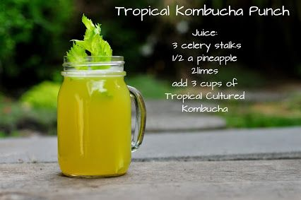 The kombucha will add a slight sparkle to this refreshing punch! Awesome digestive energy beverage...enjoy:) ps.any basic green tea kombucha will work;)