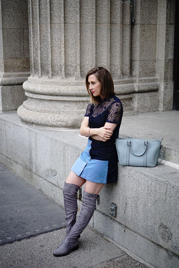 cool-patchwork-denim-skirt-to-try-for-spring-patchwork-fashion ...