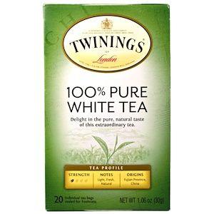 Twinings, 100% Pure White Tea, 20 Tea Bags, 1.06 oz (30 g) Each #purewhite