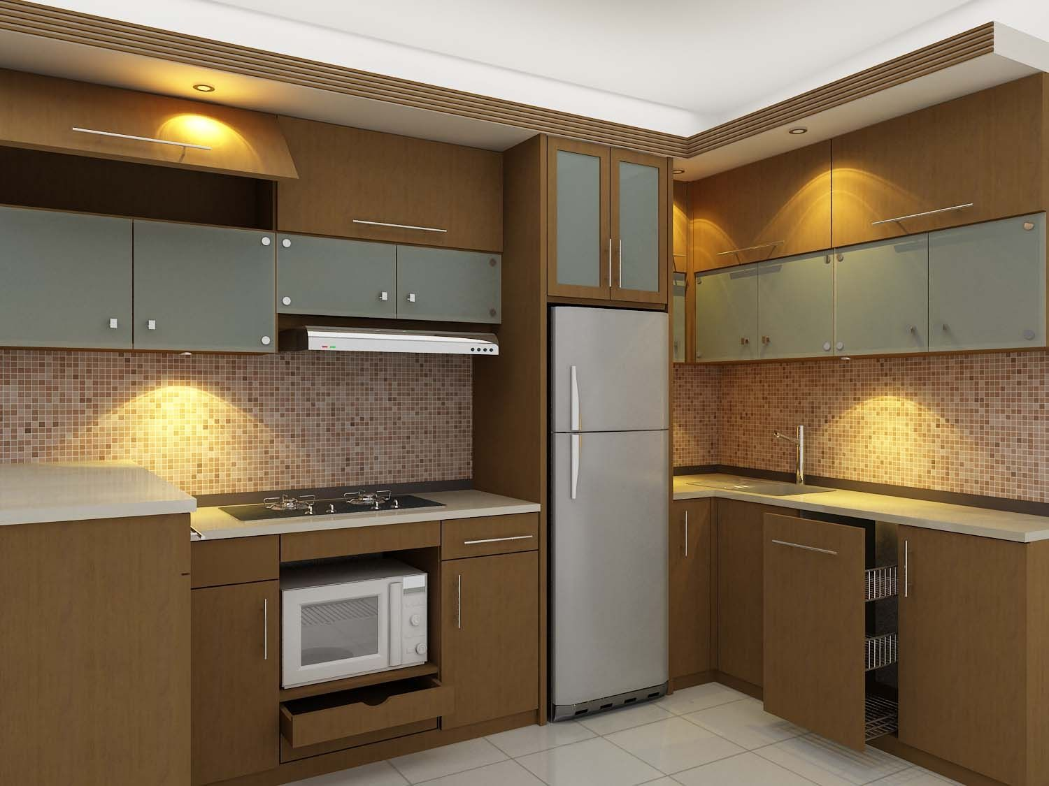 Desain kitchen set minimalis rumah pinterest kitchen for Model kitchen design
