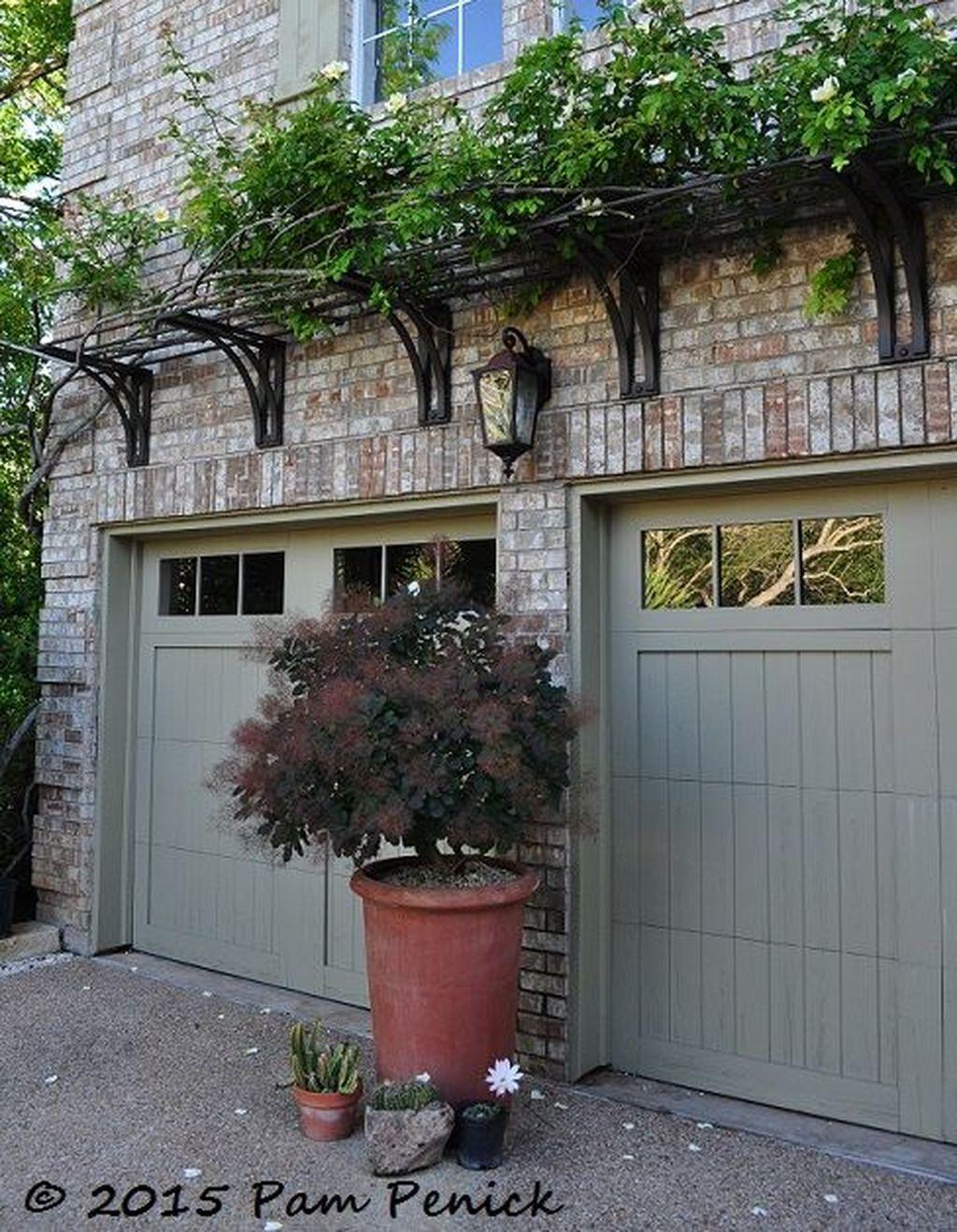 Nice 35 Inspiring Home Garage Door Design Ideas Must See More At Https Homishome Com 2018 09 25 35 Inspiring Garage Door Design Garage Exterior Garage Decor