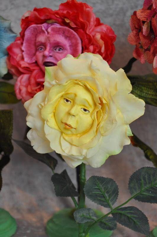 "ALICE IN WONDERLAND TALKING FLOWERS BURTON INSPIRED /""PINK PEONY/"" BY SUTHERLAND"