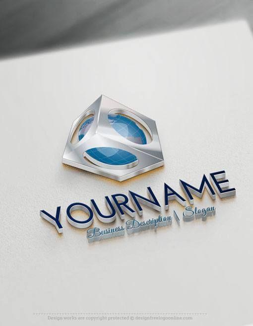 Free Letter Logo Maker - Unicorn Globe Logo Design | Logo ...