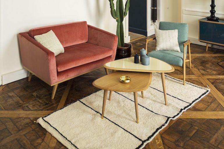 Canape Fiftiers Rededition Deco Design Mobilier De Salon Deco Maison