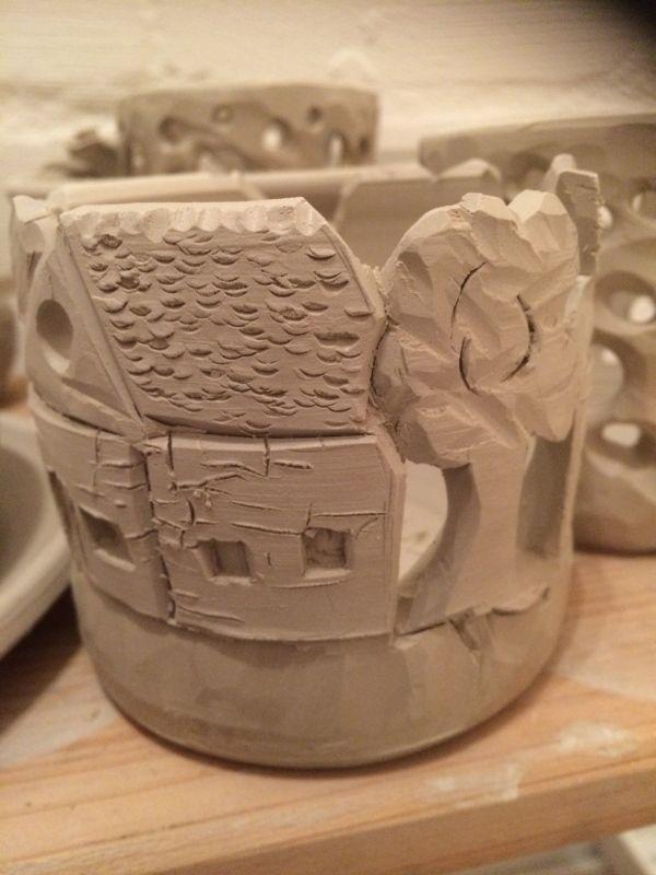 t pfern ornamente in den ton schnitzen ceramics for me. Black Bedroom Furniture Sets. Home Design Ideas