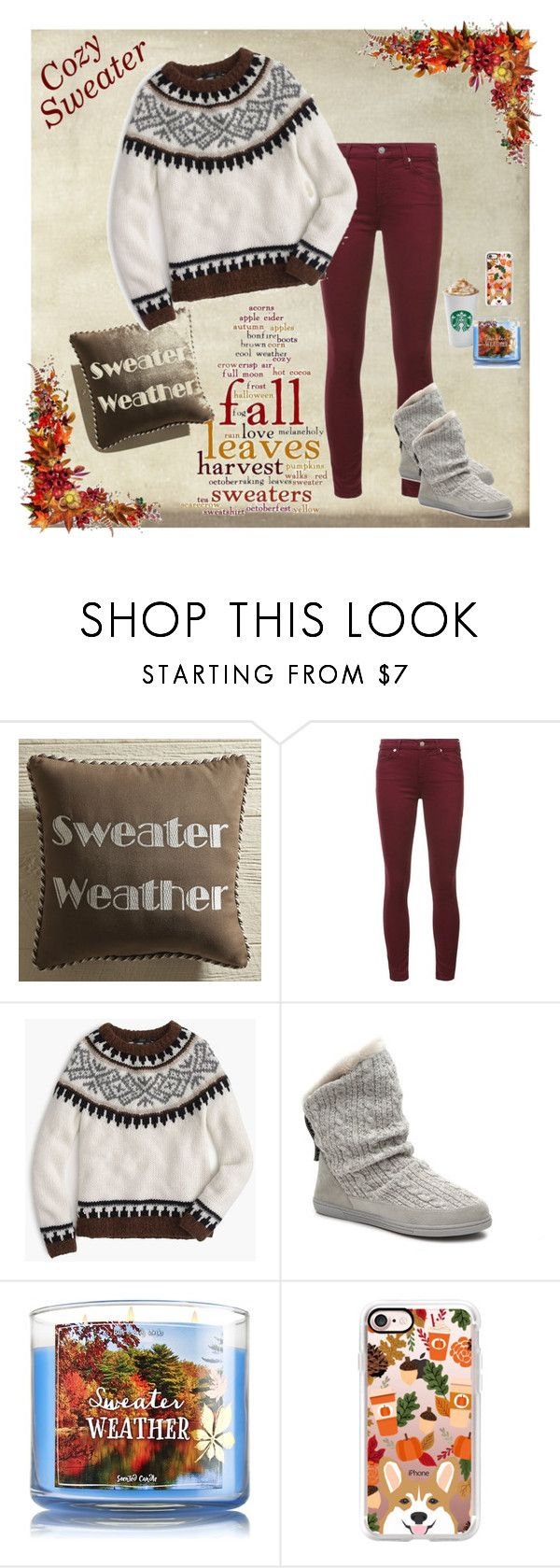"""""""#cozysweater"""" by sparky385 ❤ liked on Polyvore featuring Pier 1 Imports, 7 For All Mankind, J.Crew and Casetify"""