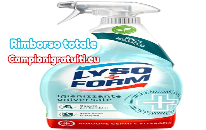 Rimborso Totale Lysoform Multiuso Igienizzante