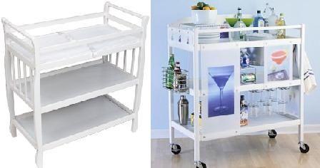 Tn bar1 transforma un cambiador de beb en un mueble bar - Mueble cambiador bebe ...