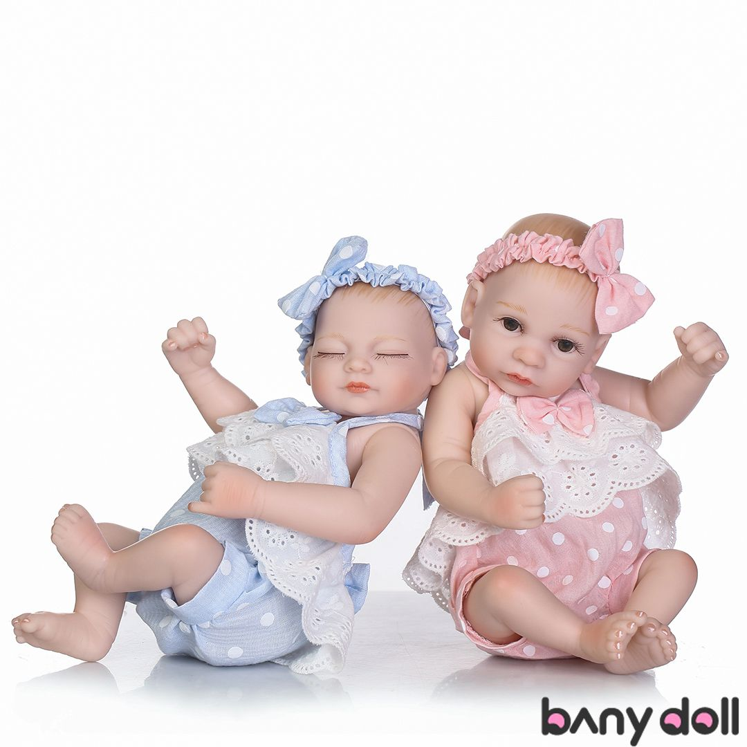10 Inch Mini Twins Baby Set Shirley And Silver Reborn Babies Baby Dolls Baby Dolls For Sale