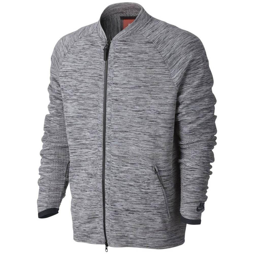 94650146e Nike Sportswear Tech Knit Jacket Carbon Heather Mens L-2XL 832178 060 Full  Zip  Nike  CoatsJackets