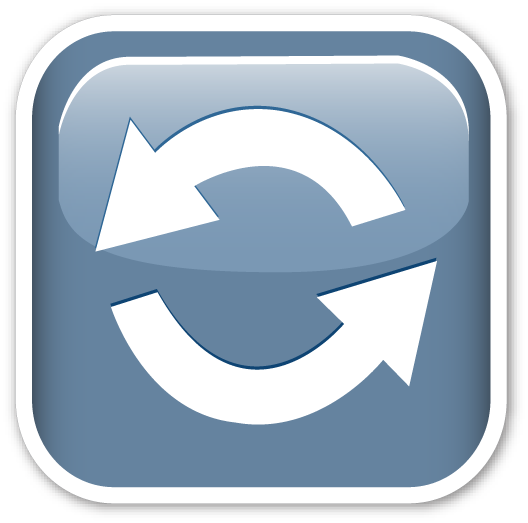 Anticlockwise Downwards And Upwards Open Circle Arrows